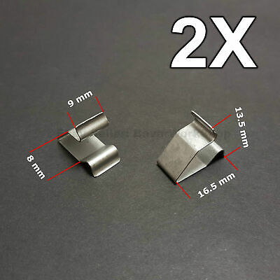 2X Sheet Metal Clamp, metal retaining clips, plug-in clips for Audi, VW, Skoda for sale  Shipping to United States
