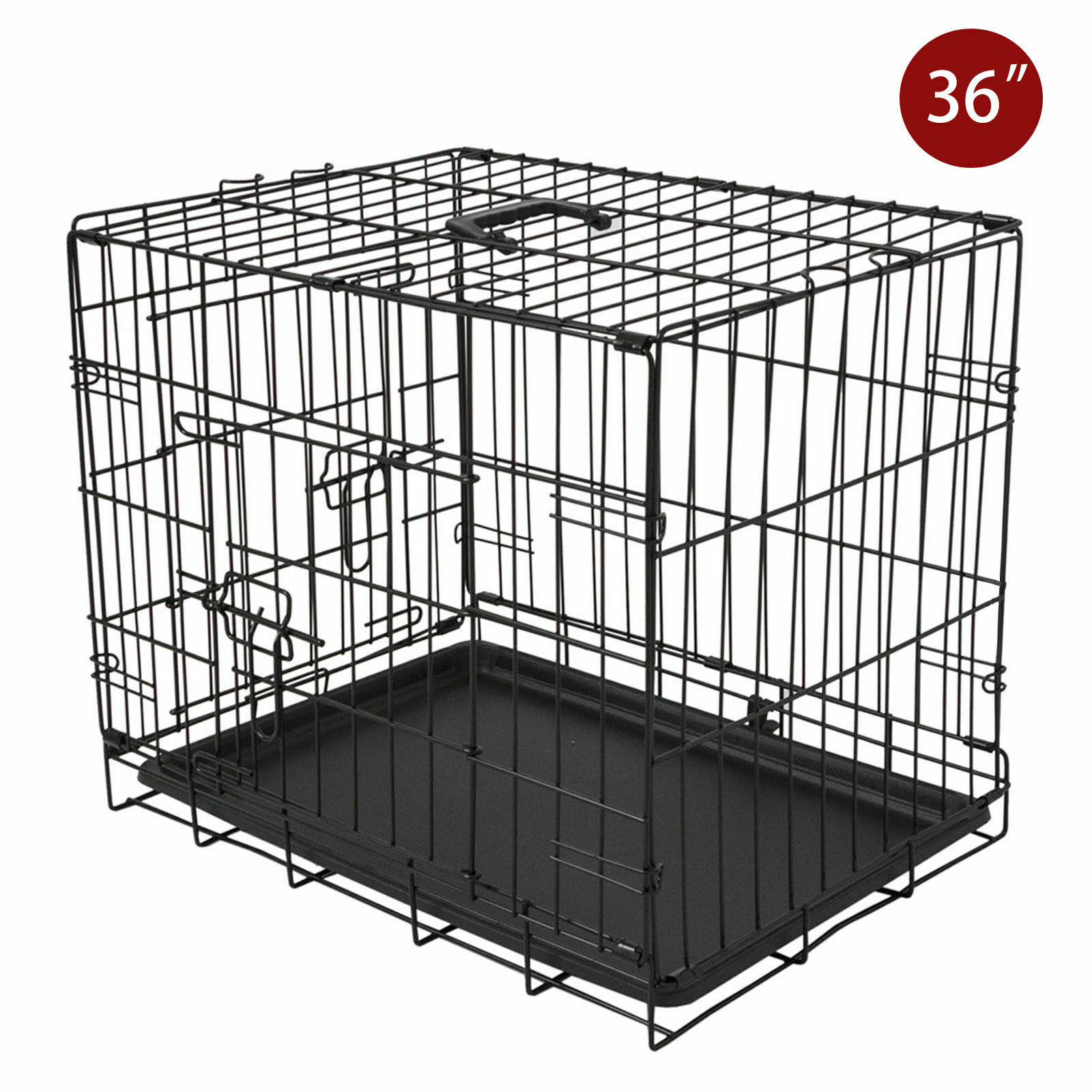 Small Dog Cage Strong Metal Wire Travel Crate Folding Dog Ca