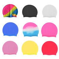 Unisex Silicone Swimming Cap Waterproof Shower Adult Kids Male Female Swim Hat - unbranded - ebay.co.uk