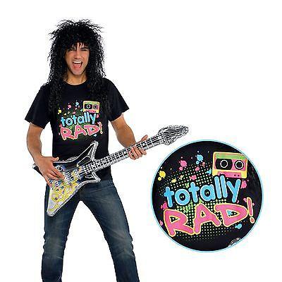 Herren Total Rad 80er Jahre Punk Rocker Band Neon Retro T-Shirt Kleidung - Total 80er Jahre Kostüm