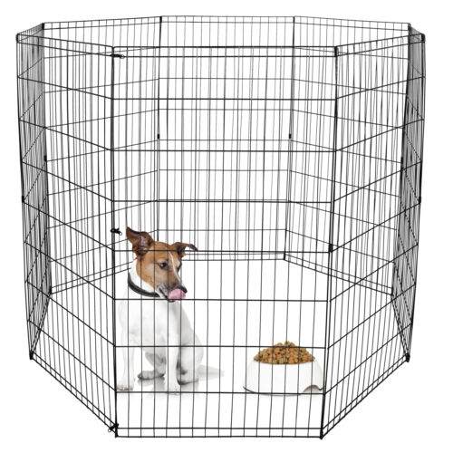 48 Inch 8 Panels Tall  Dog Playpen Large Crate Fence Pet Play Pen Exercise Cage Dog Supplies