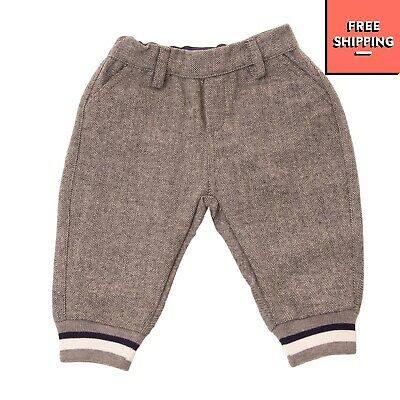 HITCH-HIKER By MONNALISA Flannel Trousers Size 6M 65CM Herringbone Made in Italy