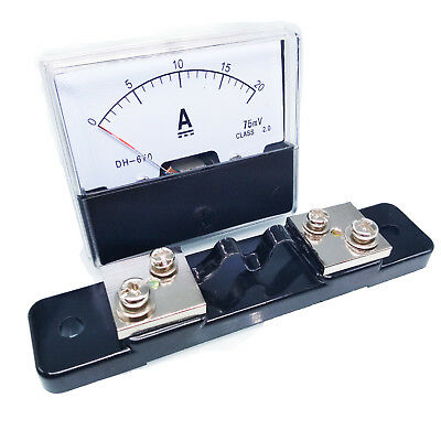 Us Stock Analog Panel Amp Current Ammeter Meter Gauge Dh-670 0-20a Dc Shunt