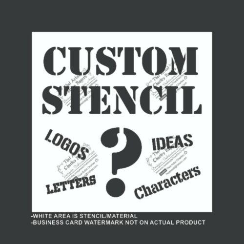 Custom Stencil - Your Logo - Reusable, Flexible Plastic Stencil, Many Sizes