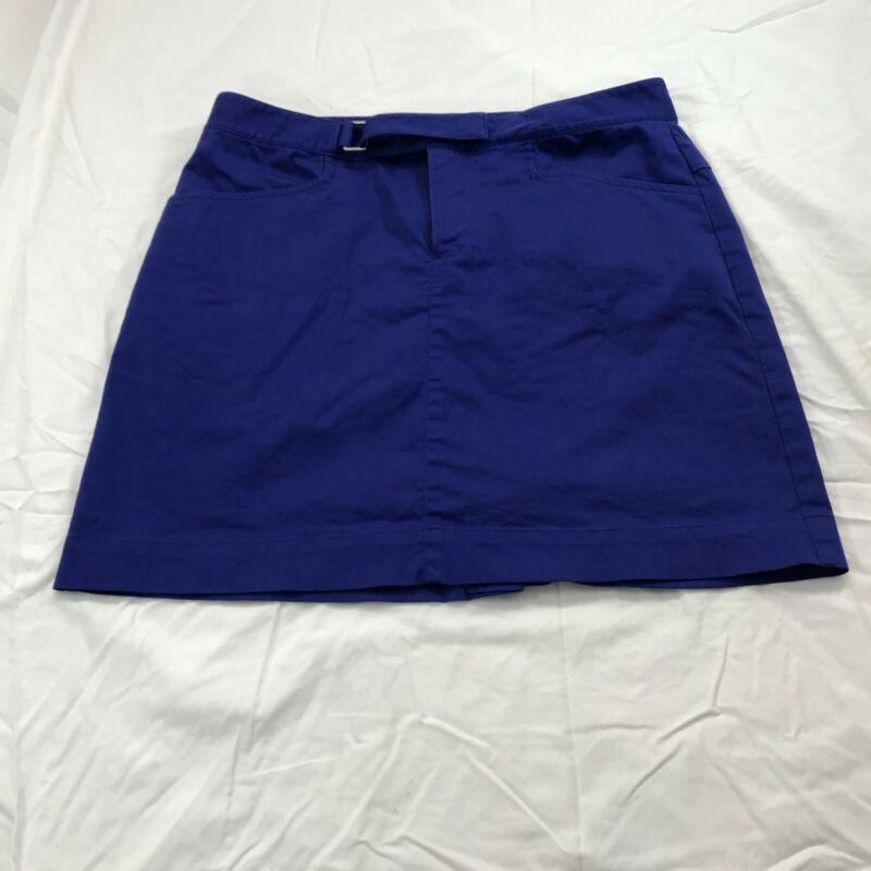 Ralph Lauren Golf Womens Blue Designer Comfort Skort Skirt Size 4