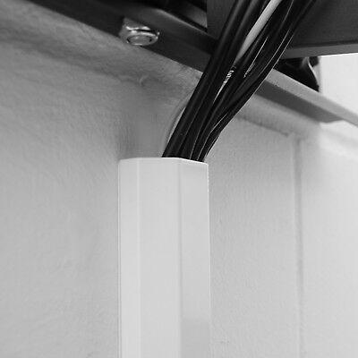 100cm ALU Kanal 1m Kabelkanal weiß 1 m Abdeckung weiss 100 cm Kabelabdeckung