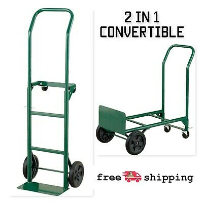 Harper Trucks 2-in-1 Convertible Hand Truck And Dolly Steel 400 Lb. Capacity