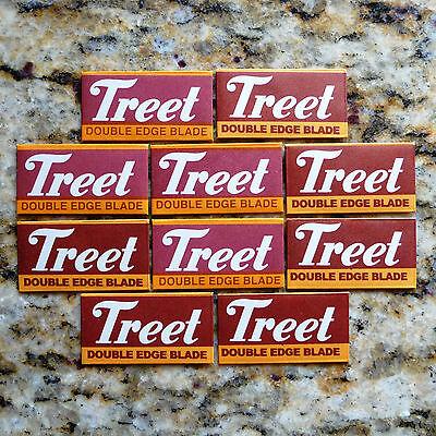 10 Treet Black Carbon Steel Double Edge Razor Blades