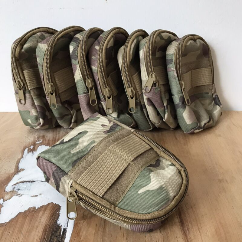 Joblot 8 Outdoor Camouflage Survival Kit Utility Belt Pouch Hiking Camping