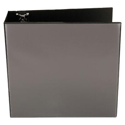 Universal Economy D-Ring Vinyl View 3-Ring Binder, 4 In. Capacity, Black, EA - U