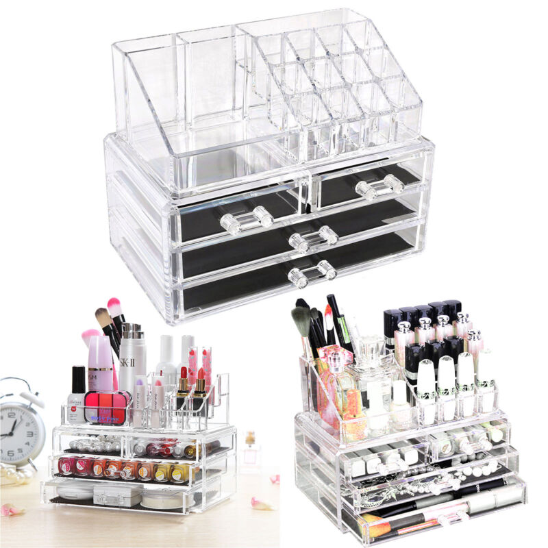 kosmetik organizer make up acryl aufbewahrung beauty kosmetikbox schubladen box 711005766869 ebay. Black Bedroom Furniture Sets. Home Design Ideas