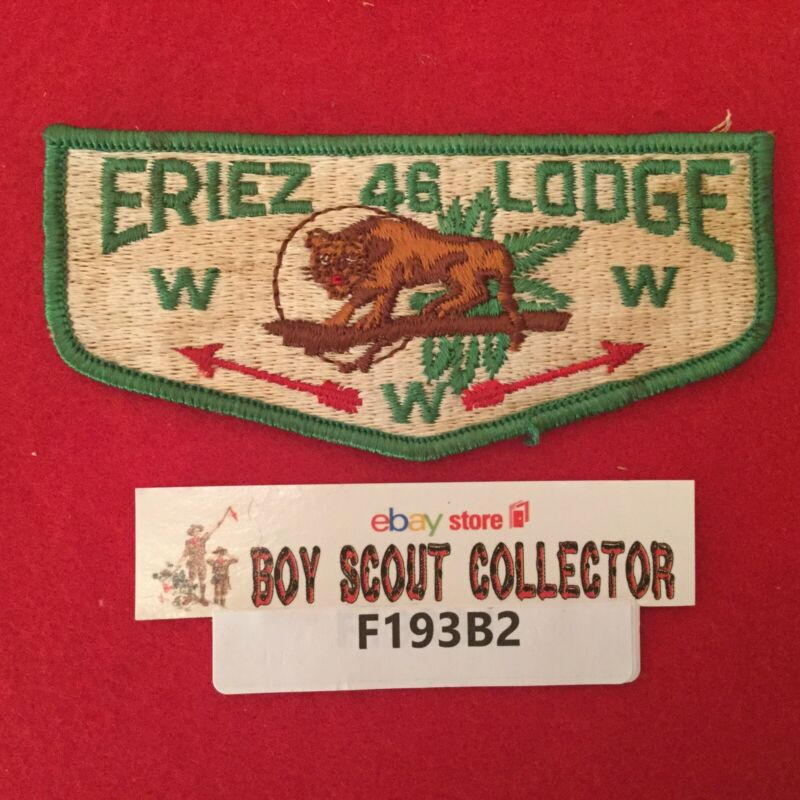 Boy Scout OA Eriez Lodge 46 S1 Order Of The Arrow Pocket Flap Patch