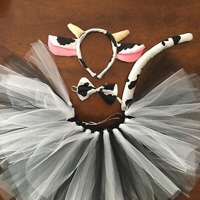 Cow Tutu Costume Toddler, Girls, Women - Cow Costume For Girls