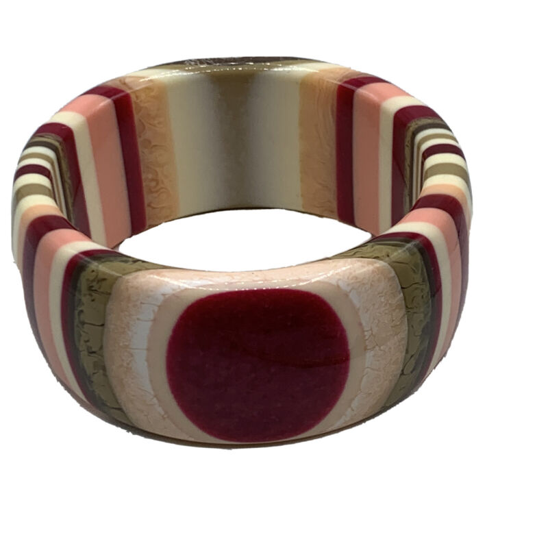 Vintage Retro Stripe Eye Pop Art Bangle Bracelet