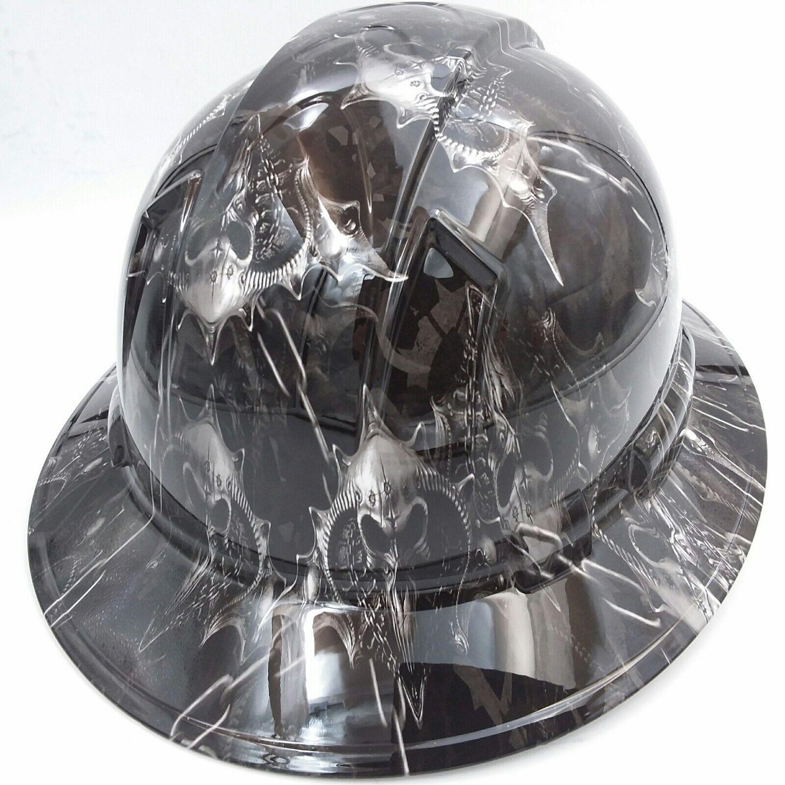 Hard Hat custom hydro dipped , OSHA approved HELL RAISER SKULLS !!!NEW!!!! 3