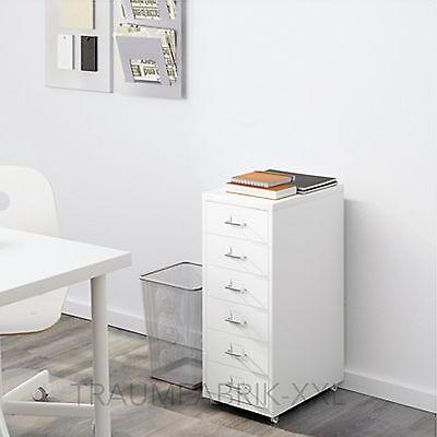 IKEA HELMER Schubladenelement mit Rollen Büroschrank weiß Bürocontainer NEU OVP
