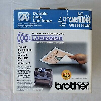 Genuine Brother Cool Laminator Lc-d5r 4.8 Width New Works Perfect Laminate