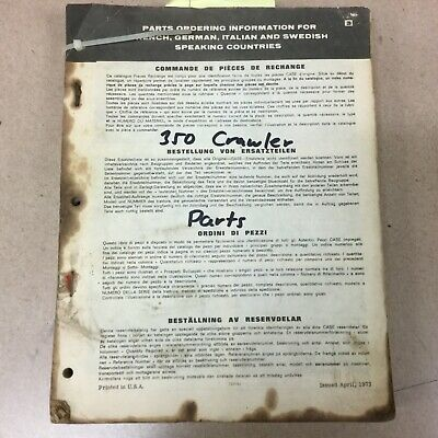 Case 350 Parts Catalog Book Manual Crawler Bulldozer Loader Guide List D1162