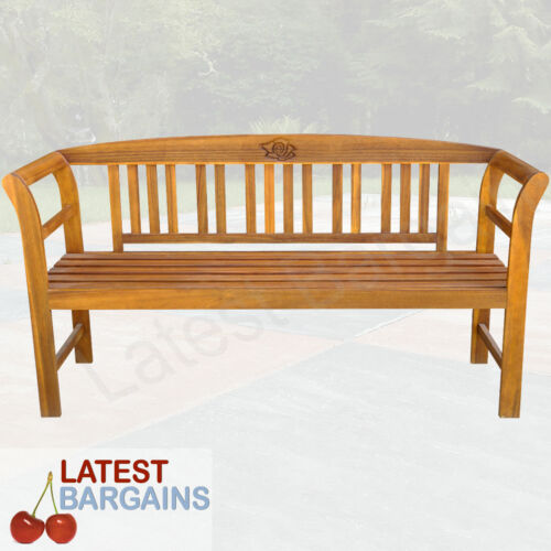 Garden Furniture - Wooden Garden Park Bench Timber Outdoor Furniture Patio Chair Seat