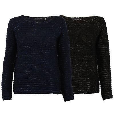 Damen Kabel Strickpullover Metallisch Garn Pullover von Brave Soul ()