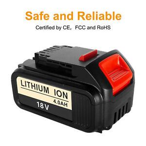 Replace Dewalt DCB182 18V 4.0Ah XR Li-Ion Lithium Battery To Fit DCB181 DCD780