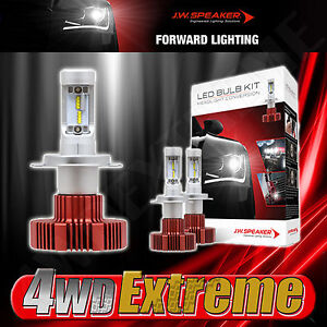 Dual High/Low Led 6200K H4 Headlight Globe Bulb Kit Speaker HID Philips 990004