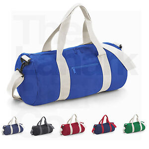 BAGBASE-VARSITY-BARREL-BAG-BG140-20L-COLLEGE-SCHOOL-GYM-DUFFLE-6-COLOURS