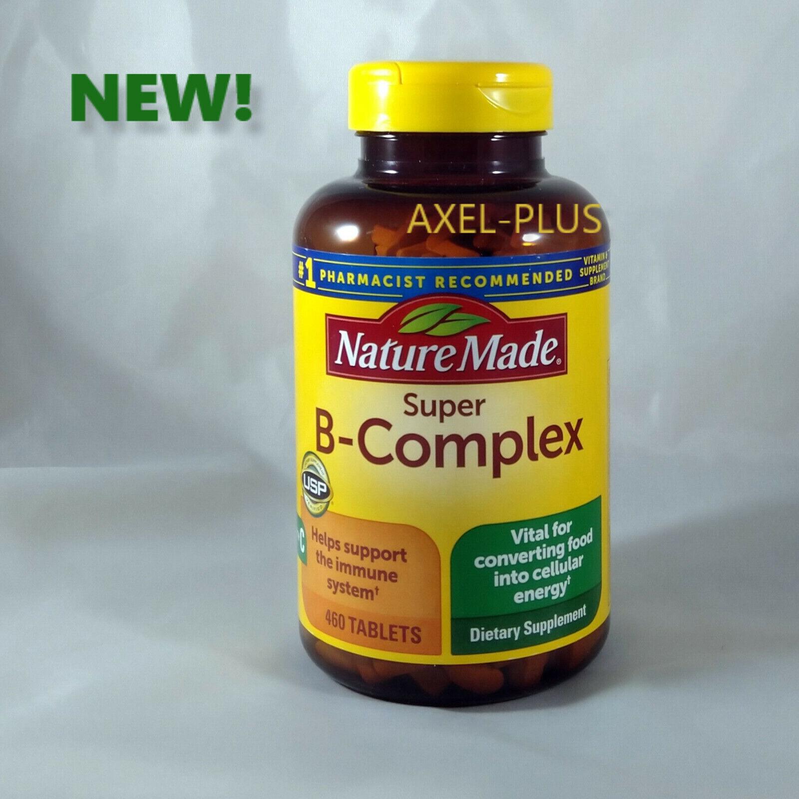 Nature Made Super B-Complex with Vitamin C & Folic Acid, 460