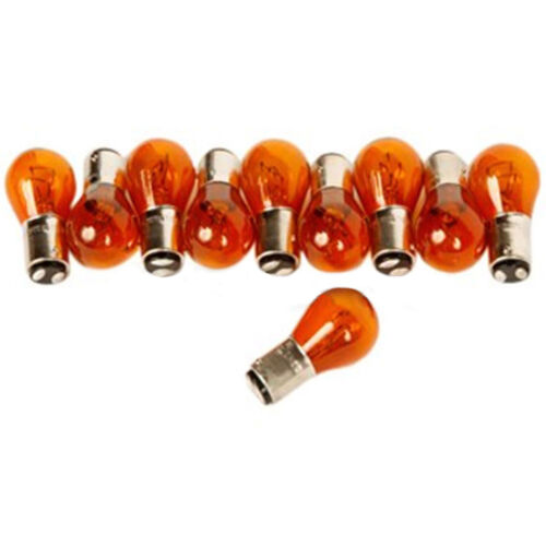 1157NA Amber Rear Brake Stop Stock Tail Light Turn Signal Lamps Bulbs Box Of 10