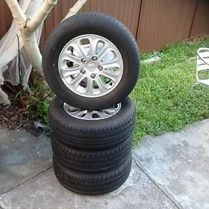"""COMMODORE 15""""INCH ALLOY WHEELS & TYRES Guildford Parramatta Area Preview"""