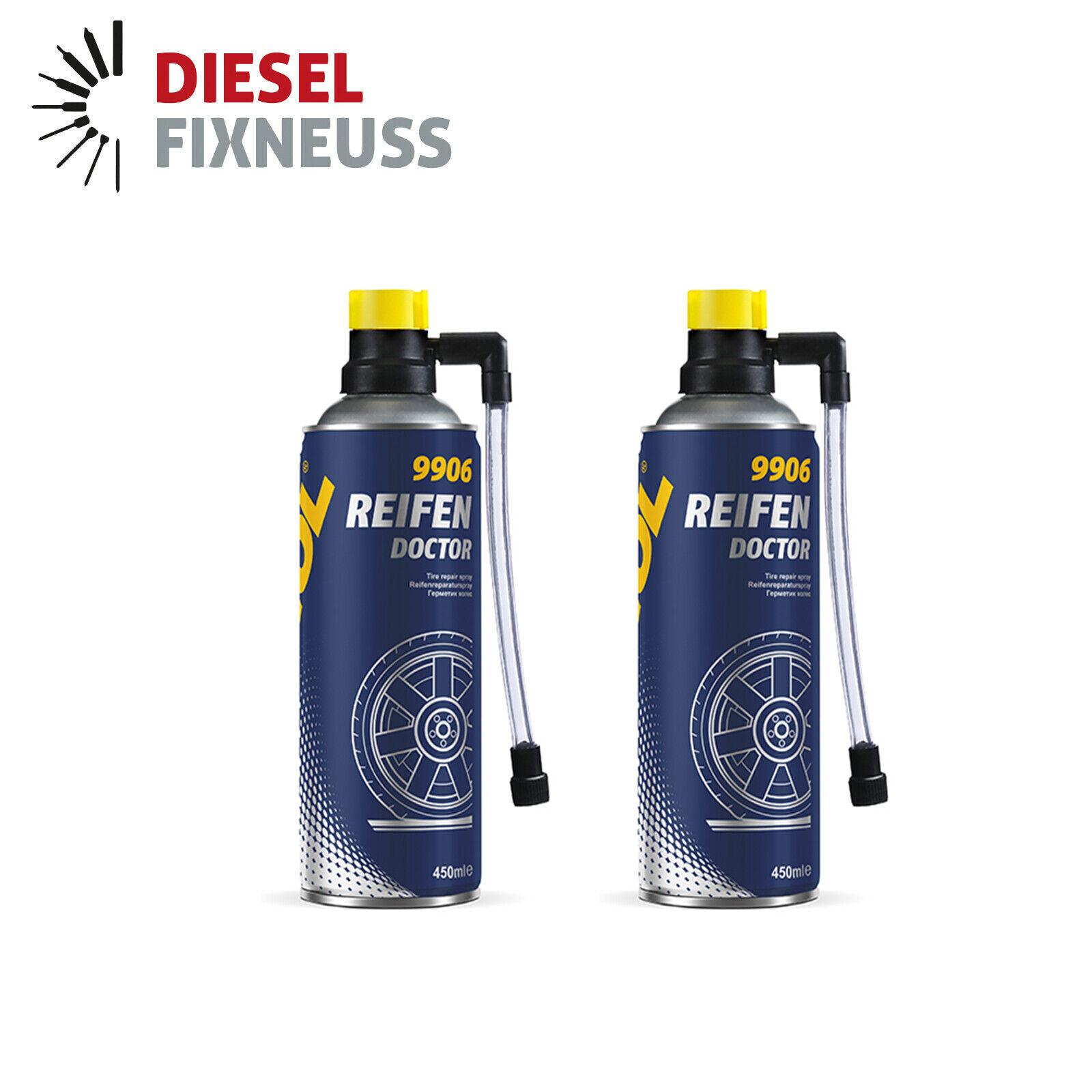 2x 450ml MANNOL Reifendoktor Reifendicht Pannenhilfe Reifenpilot Reifen Doctor