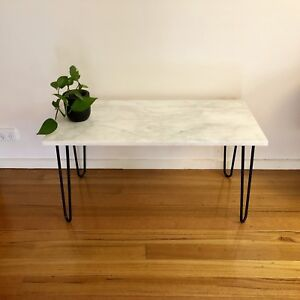 Marble Coffee Table with Hairpin Legs