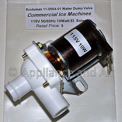 Scotsman 11-0564-01 Ice Maker Water Solenoid Purge Dump Valve 115v Ships Today