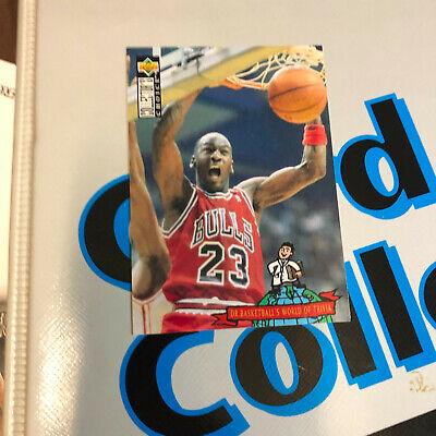 1994-95 MICHAEL JORDAN - Upper Deck Collectors Choice World of Trivia Card # 402