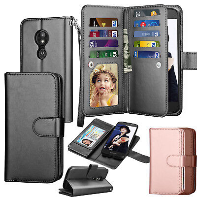 For Motorola Moto E5 Play Case / Moto E5 Cruise Leather Wallet Flip Case Cover (Play Magnets)