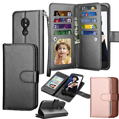 For Motorola Moto E5 Play Case / Moto E5 Cruise Leather Wallet Flip Case Cover