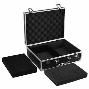 Tattoo Carrying Case Storage Padded Box Machine Gun Set Organiser Aluminium