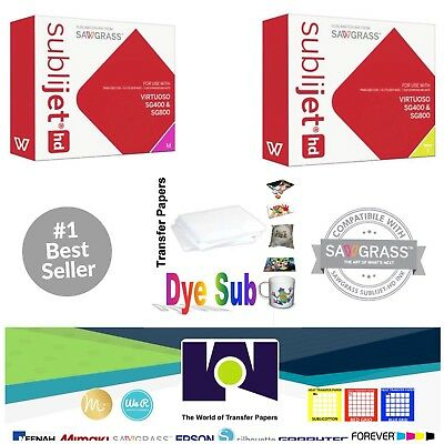 Sawgrass Sublimation Ink Magenta Yellow Cartridges For Sg400sg800 Freepaper