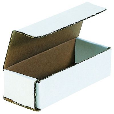 50 Of 6.5 X 2.5 X 1.75 Small White Cardboard Carton Mailer Shipping Box Boxes