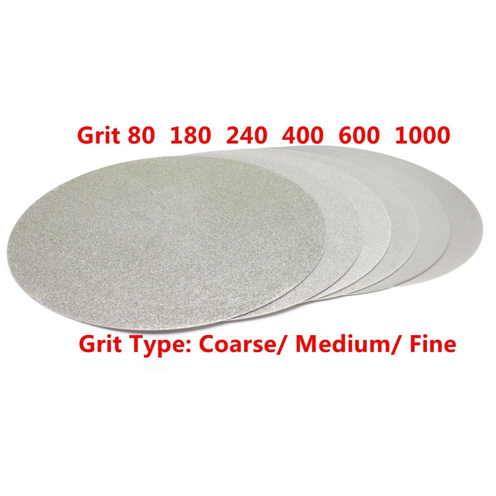 "как выглядит NO CENTER HOLE 8"" inch Grit 80 Diamond Grinding Disc Wheel Coated Flat Lap Disk фото"