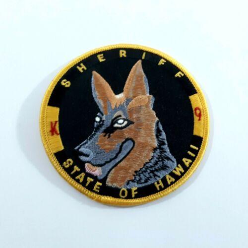 "State of Hawaii Sheriff K9 German Shepherd 3.75"" Round Patch"
