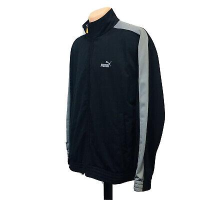 Puma Full Zip Track Jacket (Men's Size L) Black Gray