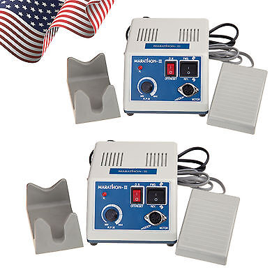 2x Dental Marathon Lab Electric Micro Motor Polisher Fit 35k Rpm Handpiece Fln.i