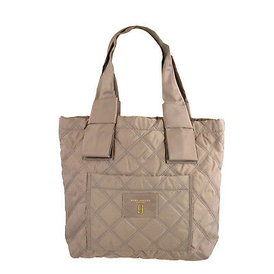(NWT Marc Jacobs Quilted Nylon Knot Small Tote in French grey)
