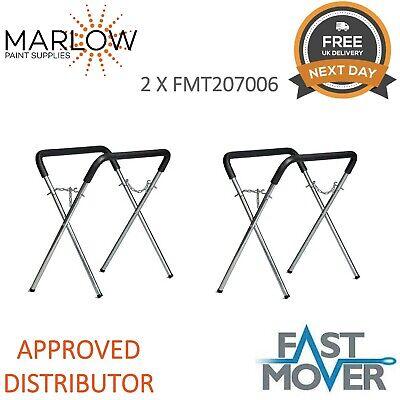 2 X FMT 207006 Body Shop Trestle Table / Panel Stand Adjustable Bodyshop rack
