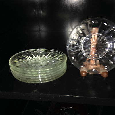"Eight (8) 6"" Glass Plates/Saucers Good Condition"