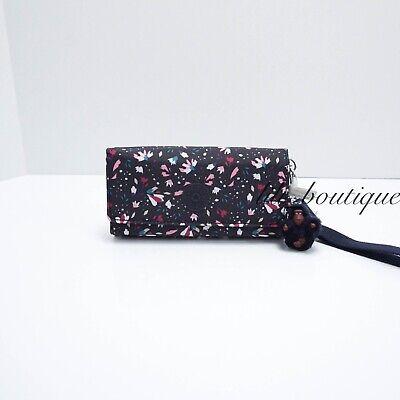 NWT New Kipling AC8152 RUBI Snap Long Wallet Wristlet Floral Gardenia Multi $48