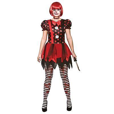 Horror Clown Halloween Horror Circus Comedy Adults Womens Fancy Dress Costume](Clown Dress)
