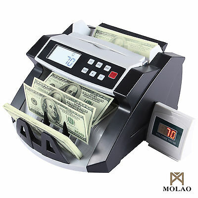 Money Bill Counter Machine Cash Counting Bank Counterfeit Detector Uv Mg