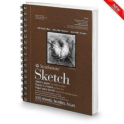 "100 Sheet Sketch Pad Notebook 9"" x 12"" Drawing Paper Book Art Artist Sketchbook"